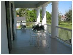 Evergreen Plantation.  Porch.