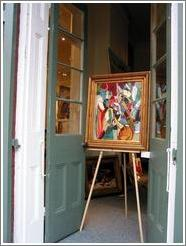 French Quarter.  Art gallery.