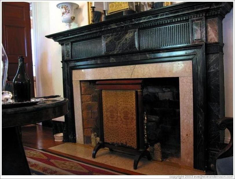 Fireplace Design large fireplace screen : Oak Alley Plantation. The heat screen in front of the fireplace ...