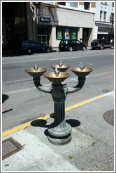Decorative drinking fountain. Tower District.