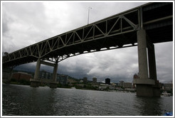 Marquam Bridge over the Willamette River.