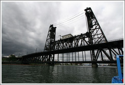 Steel Bridge over Willamette River.