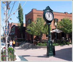 Park City clock on Main Street.