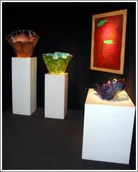 Glass art at gallery on Main Street in Park City.