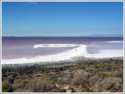 Spiral Jetty, August 2003 (fully emerged from the Great Salt Lake, due to the drought).