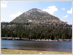 Lake and mountain in Wasatch Cache National Forest.