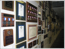 Chateau Ste. Michele winery.  Wall full of awards.