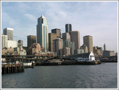 View of downtown Seattle from Elliott Bay.