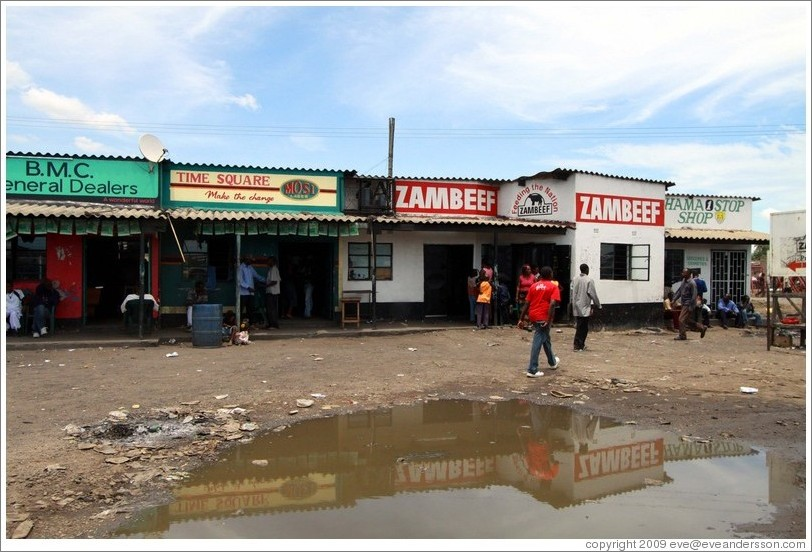 Zambeef and other shops.